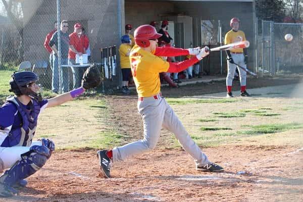 Ethan Binkley at bat for the Eagles against Dawson Springs.