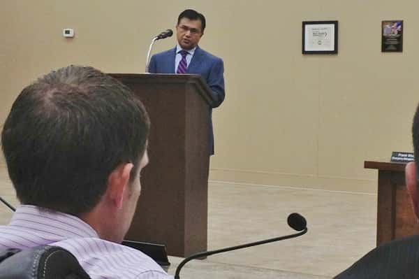 Dr. Wasim Sajid addressed the Fiscal Court in Tuesday's meeting about the new Purchase Youth Village Psychiatric Treatment Center.