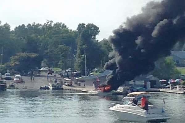 Boat fire - by Savannah Beyer