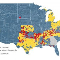 Map Showing Dry Red Wet Blue And Mixed Yellow Counties In The United States See List Of Dry Communities By U S State