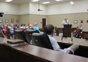 Robert Fowler addressed the Fiscal Court in a special-called meeting on Monday.