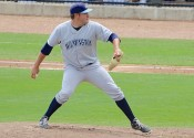 Andrew Edwards on the mound for the Wilmington Blue Rocks minor league team. Photo: Wilmington Blue Rocks
