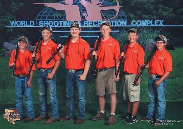 Jackson Purchase Clay Crushers pictured (L-R): Caleb Pahl, Ty Moore, Nathan Hartsell, Noah Williams, Travis Coursey, Drew Wyatt. They are coached by Vernon Anderson and Kenny Wyatt.