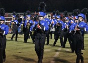 The Marching Marshals entertained at halftime.