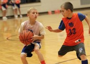 Playing in the 3rd grade boy's All-Star game were players Cashies Henton (White) and Ty Redden (33).