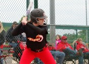 Tristan Sanders had 2 RBI's in the Lady Eagles game against Livingston Central.