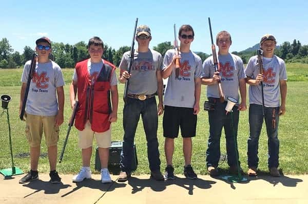 Members of the Marshall County Trap Team at the State Tournament (L-R) Travis Coursey, Teddy Wynn, Garrett Davidson, Garrett Hurley, Montgomery Scott and Ty Moore.