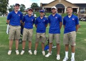 At Friday's Gator Invitational pictured (L-R) Quinn Eaton, Jay Nimmo, Grant Hackney, Garrett Howell and Tyler Powell.