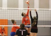 Hannah Langhi's 18 kills against Hickman County help lead them to a 3-0 season opening win.