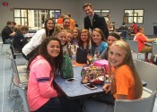South Marshall Middle School students with State Representative Will Coursey.