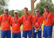 Playing for the Marshals at Ballard County (L-R) Garrett Howell, Grant Hackney, Tyler Powell, Jay Nimmo and Quinn Eaton.