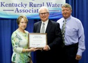 Pictured (L-R) North Marshall Board Member Kendra Capps, Tom Fern - USDA Rural Development State Director and North Marshall Water Superintendent Bobby Gifford.