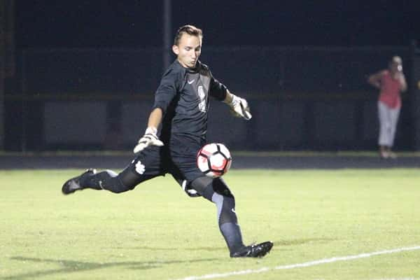Marshall County keeper Keagin Watkins during last weeks 4-3 win over McCracken County.