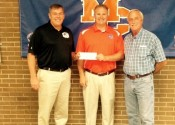 Pictured (L-R) Judge/Executive Kevin Neal, Athletic Director Jeff Stokes and Commissioner Dr. Rick Cocke.