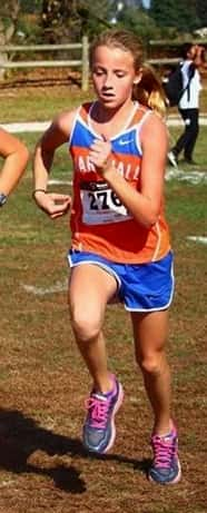 Marshall County 7th grader Alexia Minter qualified as an individual for the state cross country meet.