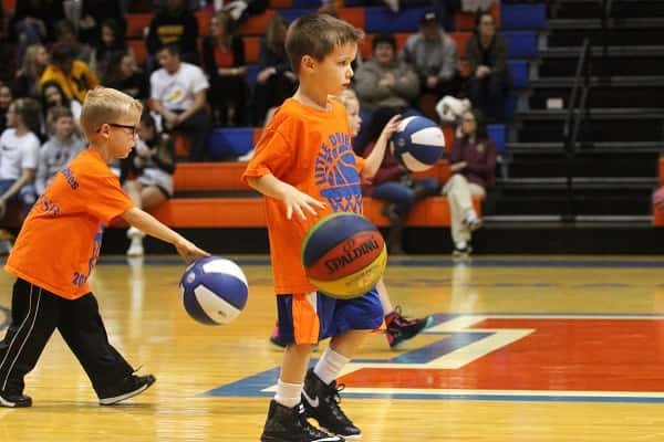 The Marshall County Little Dribblers performed during last week's home games against Murray.