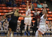 Miyah Davis releasing one of her five 3-pointers made in the Lady Marshals win over McCracken County.
