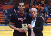 Kentucky signee PJ Washington received the MVP award from Marshall County Commissioner Dr. Rick Cocke after Friday's Findley Prep's 94-75 win over Hopkinsville.