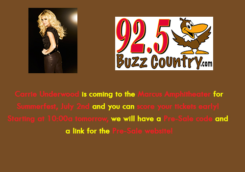 Carrie Underwood Pre-Sale Buzz
