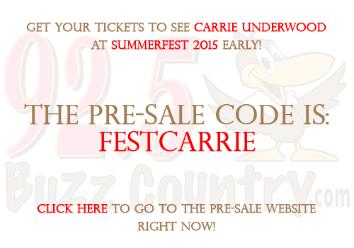 Carrie Underwood Pre-Sale Code Buzz