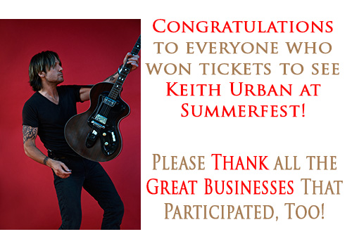 Keith Urban Winners