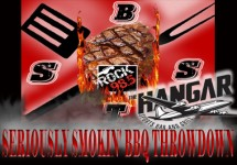 seriously smoking bbq throwdown actual logo the hanger