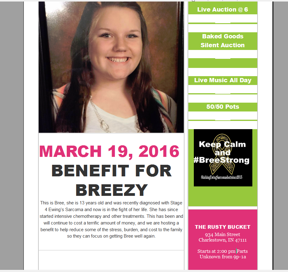 Benefit For Breezy | KFXJ-FM