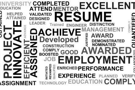 what word is most popular on s resumes in each