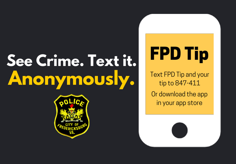 Fredericksburg Police Launch Anonymous Tip App For Smart