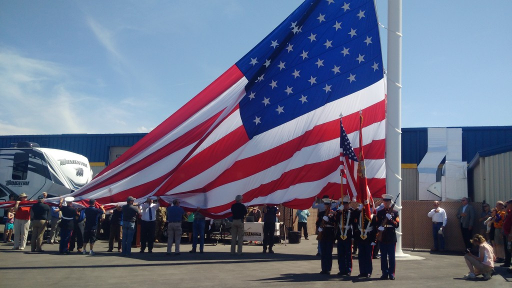 Largest Flag On Mt Private Property Hoisted In Billings Kghl