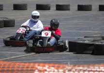 Steve racing for K-105.3 #9