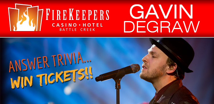 Gavin DeGraw Giveaway