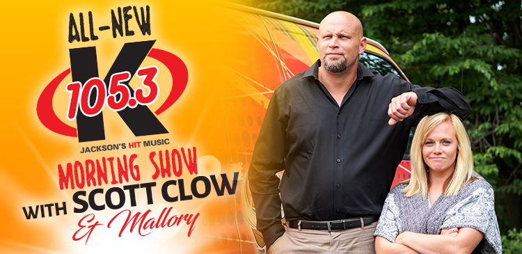 The All-New K-105.3 Morning Show with Scott Clow & Mallory