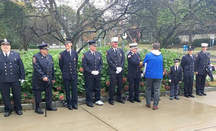 Volunteer Firefighters Hold Flag Raising Ceremony