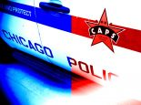 Chicago Police red blue squad car officer officers policeman city CPD