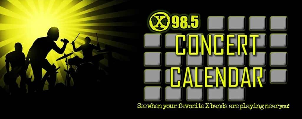 x concert calendar 2