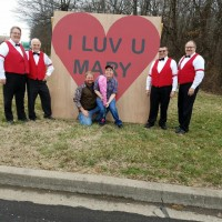 Mary Arview of West Frankfort with her Valentine surprise!
