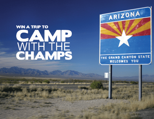 Win A Trip To Camp With The Champs - Click Here