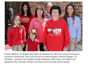 Kuemper's Homecoming Has Deep Roots For One Woman, 10 Children, 16 Grandchildren And 12 Great-Grandchildren