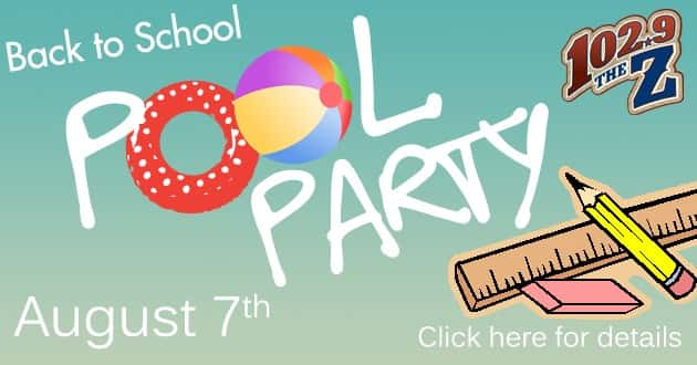 backPool Party with school suppliesFLipper