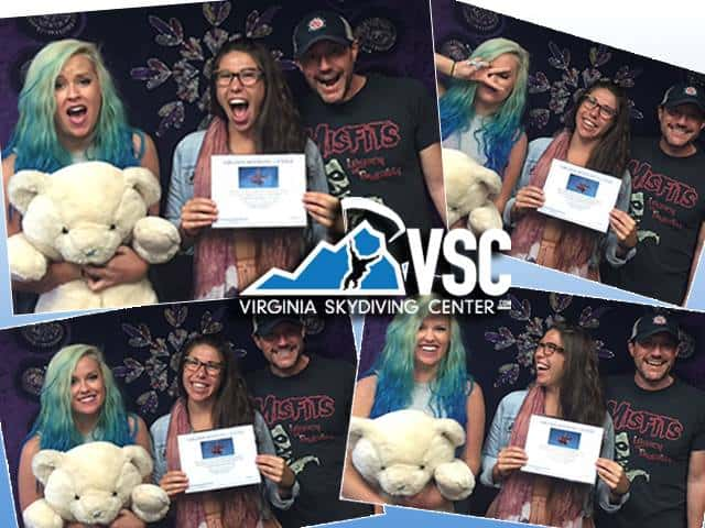 Wild child Lauren Miles from Mechanicsville will be joining Krissi K., Crash Young, & Johnny Le from Level Up Rentals for Krissi's Birthday jump at Virginia Skydiving Center!