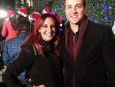 Melissa & Jack light the city for the holidays. Grand Illumination at the James Center.