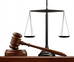 court gavel scales