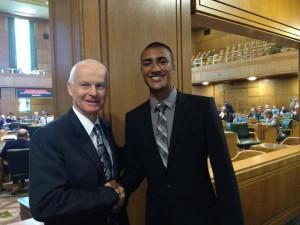 Dennis Richardson with Olympic Gold Medalist Ashton Eaton