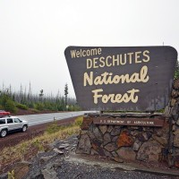 DESCHUTES NATIONAL FOREST SIGN