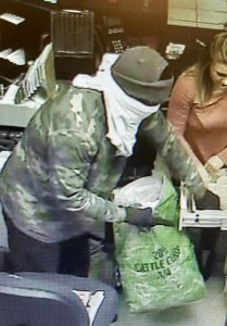 Bank Robbery Security Cam