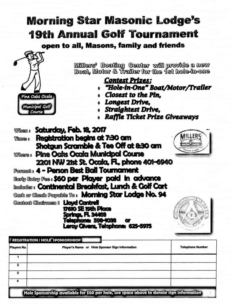 Masonic lodge golf - Jan 13 2017 - 10-10 AM