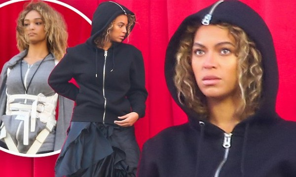*PREMIUM EXCLUSIVE* Beyonce jumps off a building for new video clip **MUST CALL FOR PRICING**