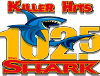 102.5 The Shark logo