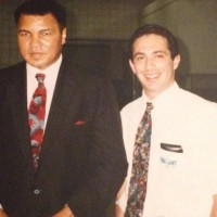 Bryan Feldman and Muhammad Ali 1990 Palace of Auburn Hills